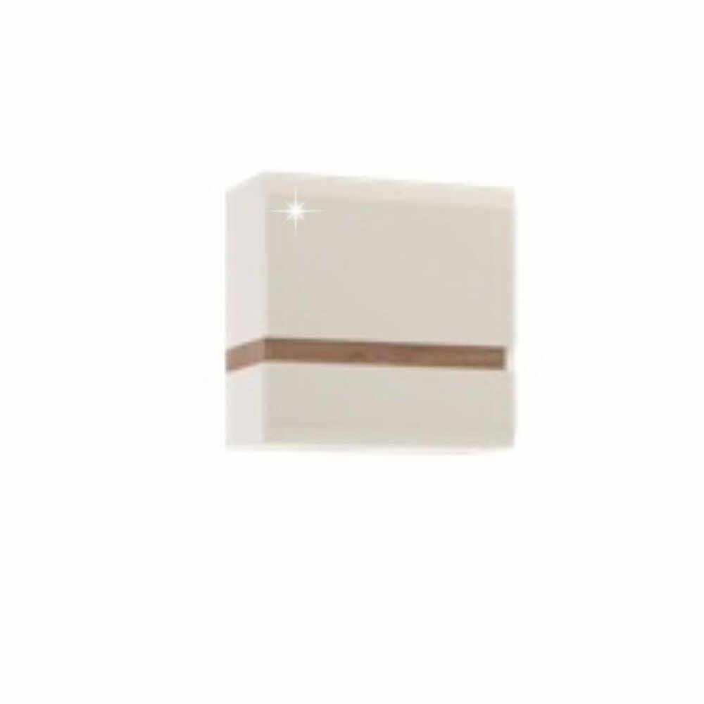 Dulap suspendabil alb extra luciu ridica HG/stejar sonoma inchis la culoare truflu GL LYNATET TYP 66 la pret 470.35 lei