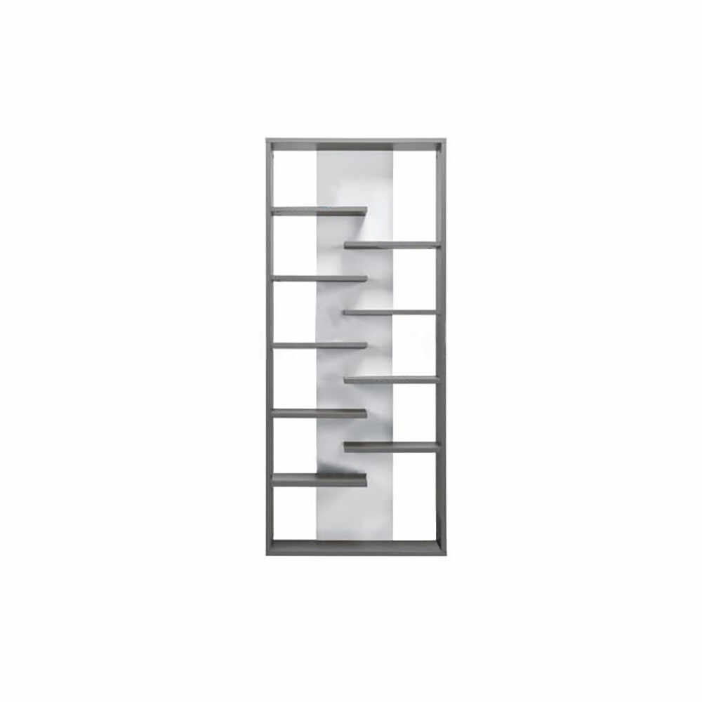 Etajera inalta gri grafit/alb GL MARSIE M8 la pret 915.4 lei