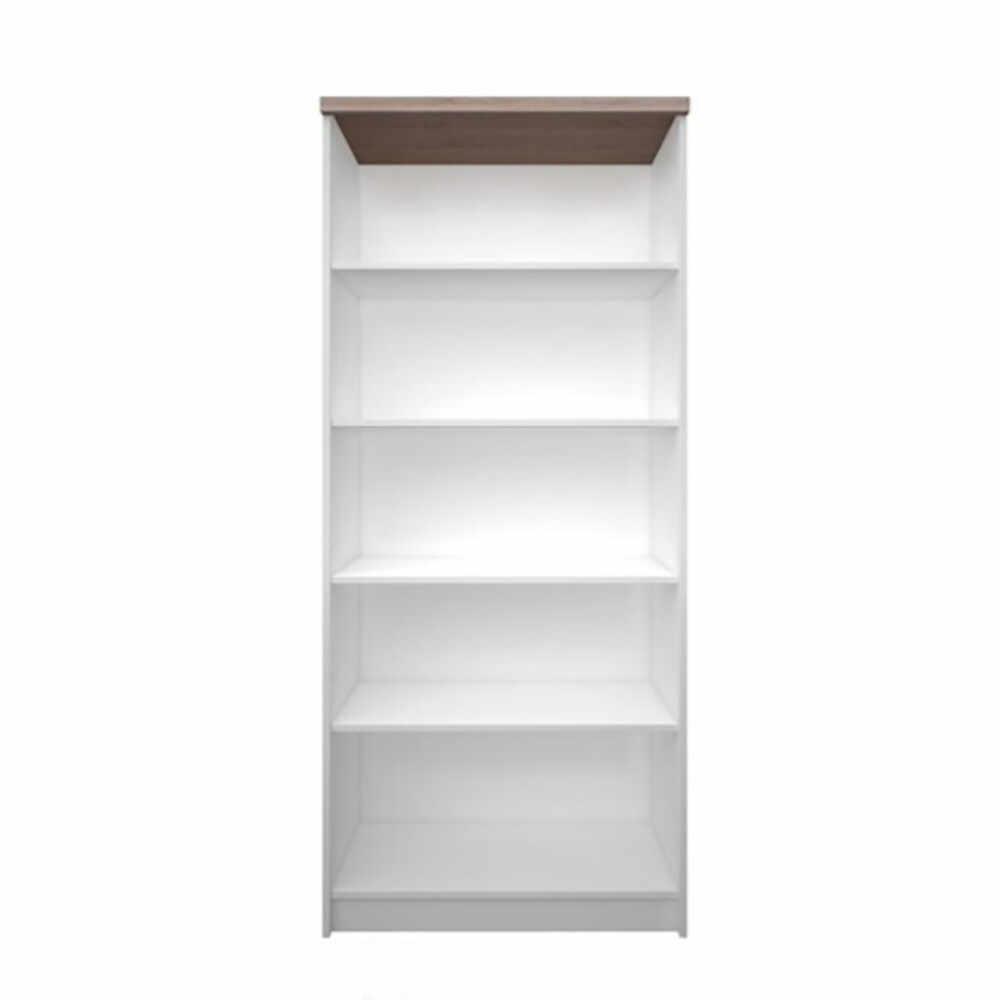 Biblioteca inalta deschisa 80 PAL melaminat alb/stejar sonoma GL TOPTY la pret 410.55 lei