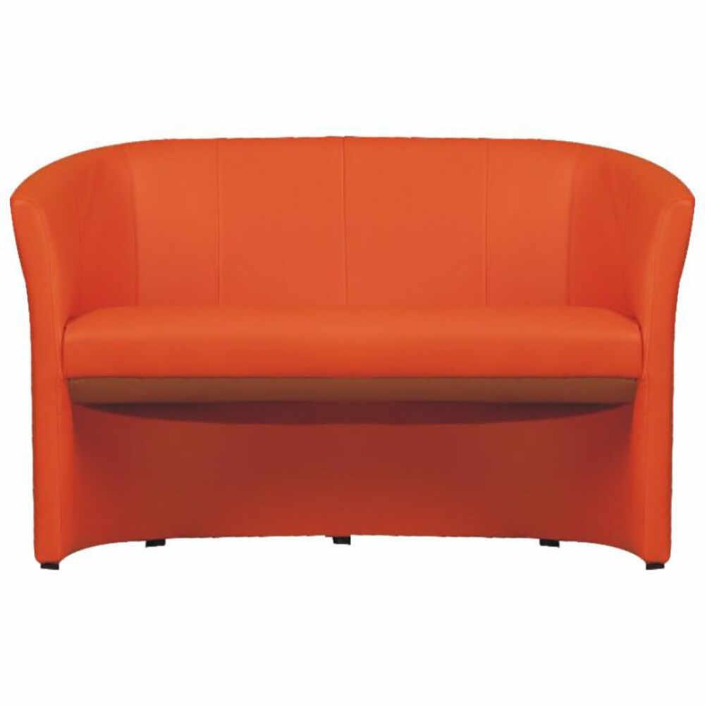 Fotoliu dublu piele ecologica portocalie GL CUBA Portocaliu la pret 838.35 lei