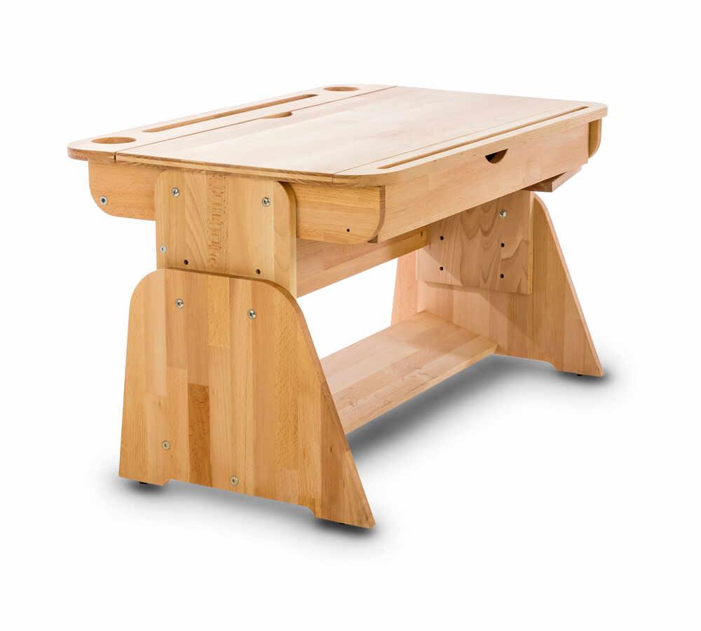 Masa de birou din lemn de fag, Ecodesk II, L90xl55h46 cm la pret 1801 lei