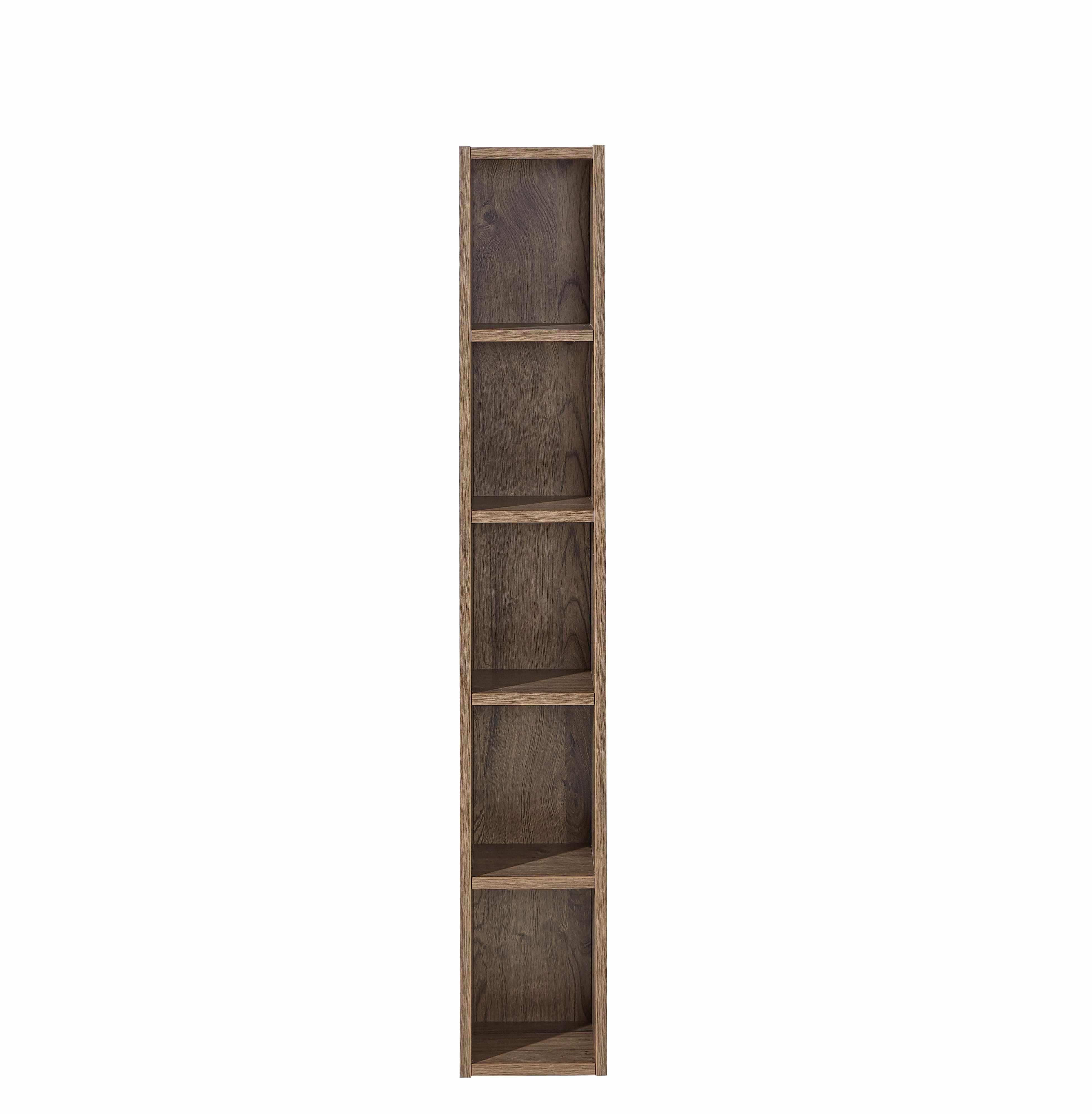 Biblioteca suspendata din pal si MDF Madeline Havel Oak Cognac, l20xA20xH125 cm la pret 371 lei