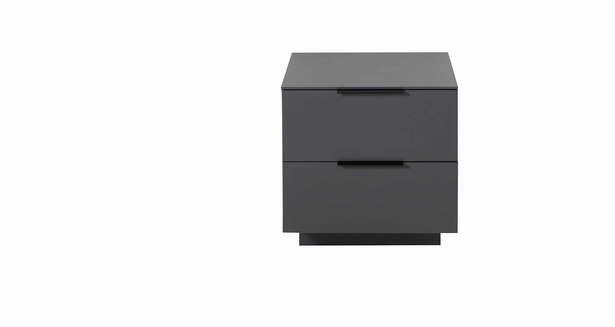 Cabinet din pal si MDF cu 2 sertare, Madeline Grafit, l60xA44xH61 cm la pret 677 lei