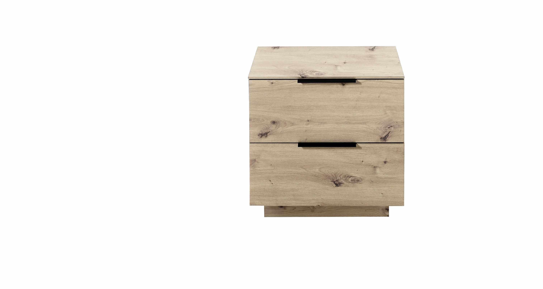 Cabinet din pal si MDF cu 2 sertare, Madeline Stejar, l60xA44xH61 cm la pret 677 lei
