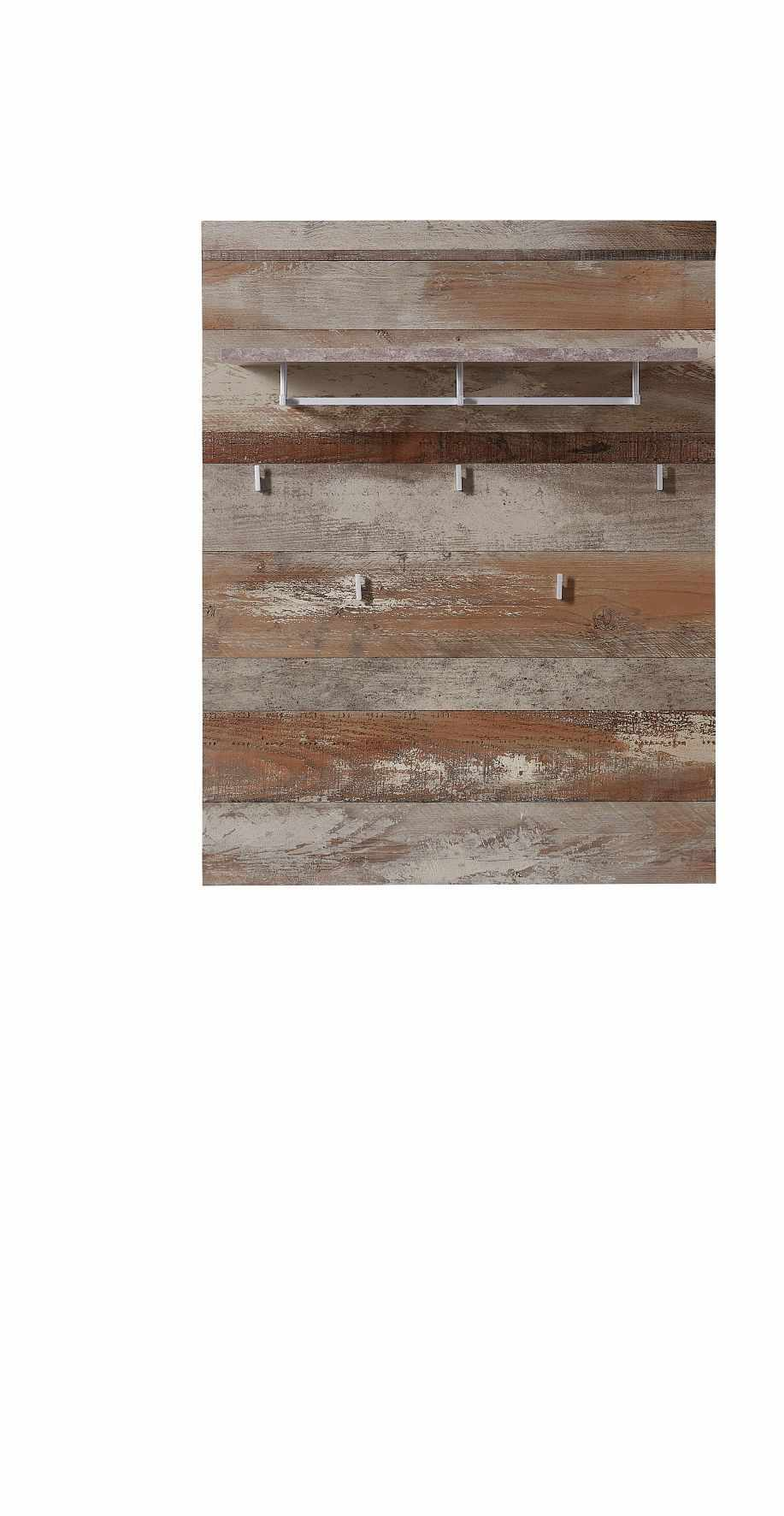 Cuier din pal si MDF cu etajera Krone Natur, l90xA30xH116 cm la pret 423 lei