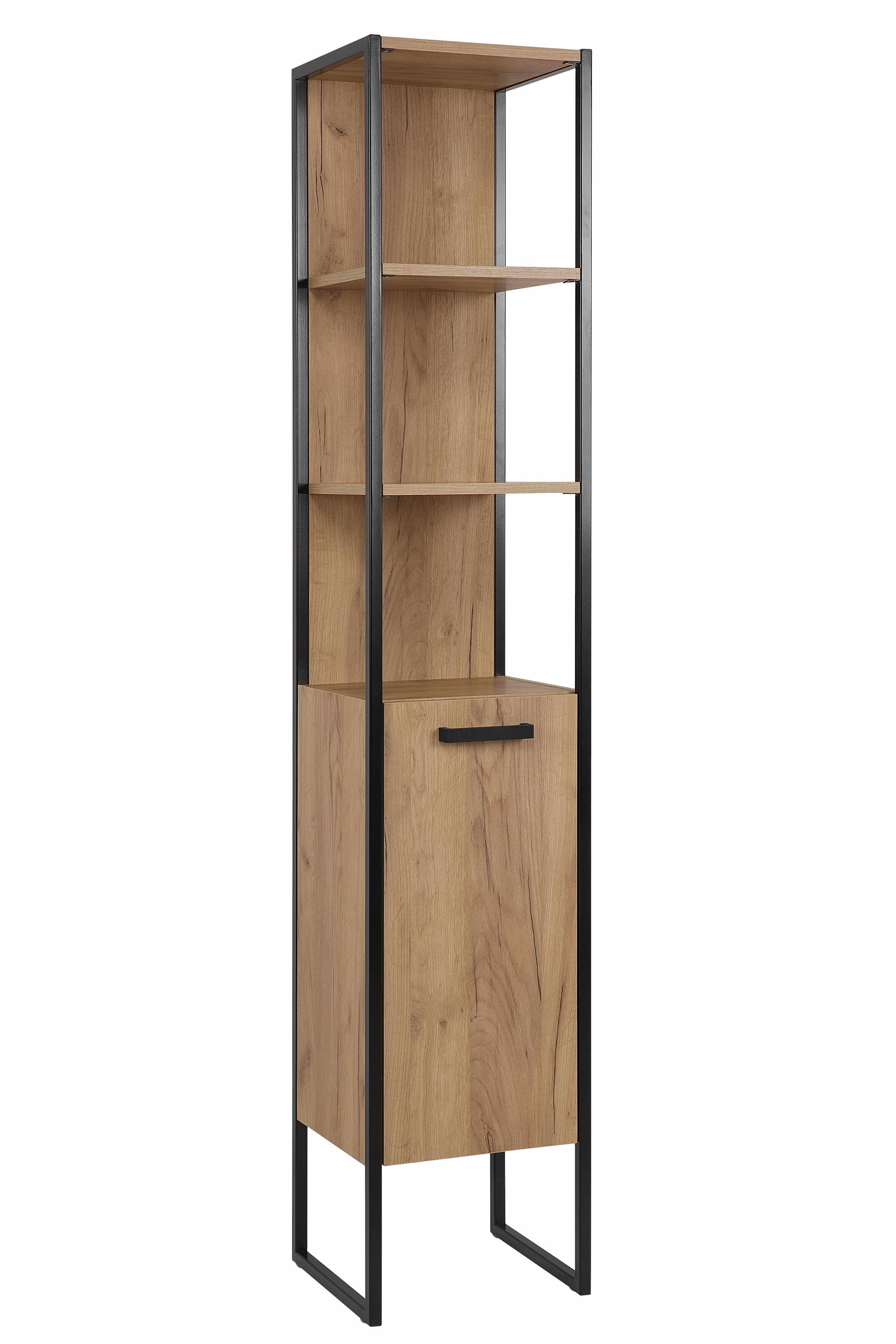 Dulap baie inalt cu 1 usa si rafturi, Brooklin, l35xA33xH185 cm la pret 1223 lei
