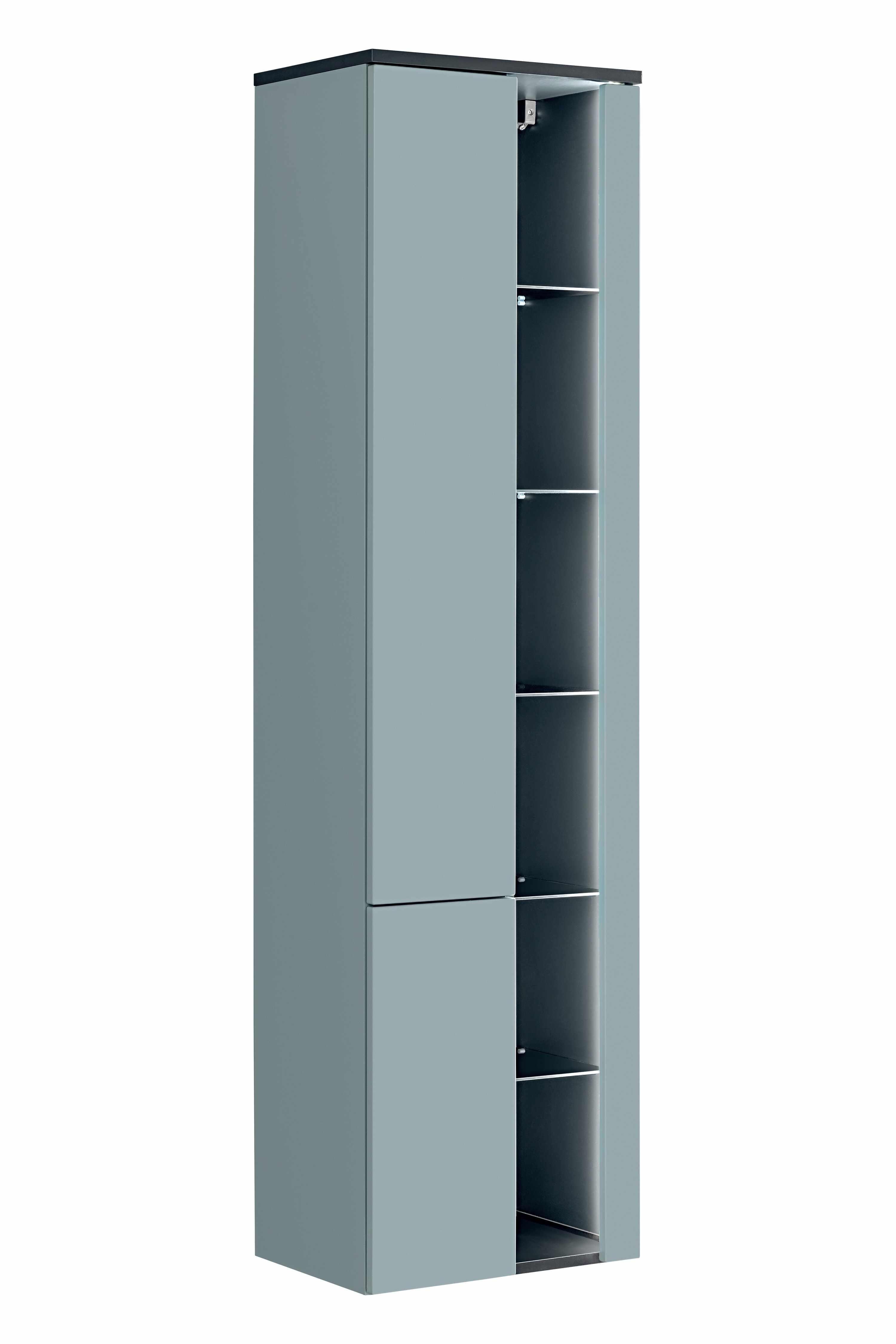 Dulap baie inalt cu rafturi si 2 usi, Bahama Mint, l45xA33xH170 cm la pret 1465 lei