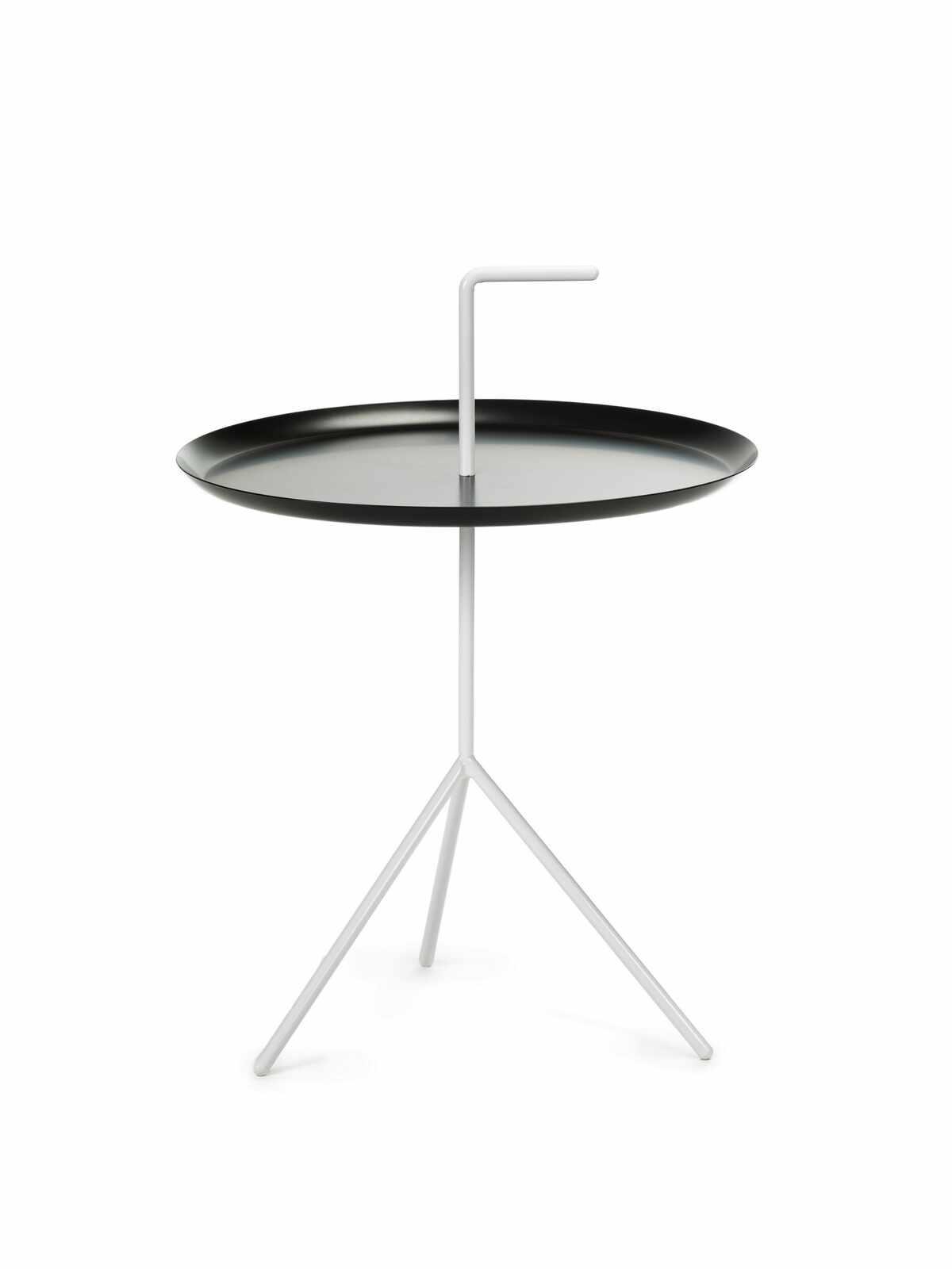 Masa de cafea, din metal Phil Alb / Negru, Ø48xH48 cm la pret 152 lei
