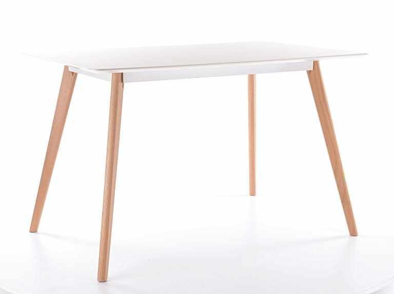 Masa din MDF si lemn Milan 160 Alb / Stejar, L160xl90xH75 cm la pret 1103 lei