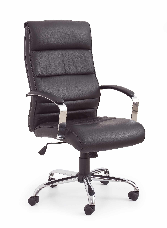 Scaun de birou ergonomic, tapitat cu piele ecologica Tiana Negru, l63xA75xH112-122 cm la pret 1036 lei