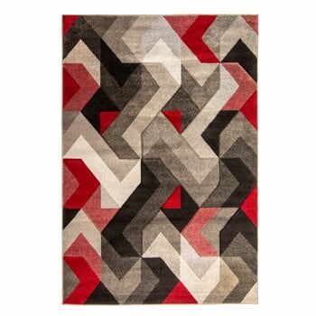 Covor Flair Rugs Aurora Grey Red, 120 x 170 cm