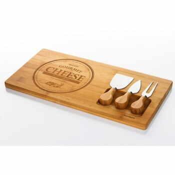 Set servire din bambus pentru brânzeturi Bambum Fhume la pret 164 lei