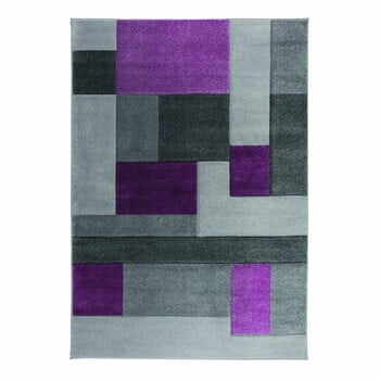 Covor Flair Rugs Cosmos Purple, 80 x 150 cm, gri-mov