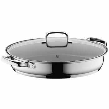 Tigaie ovală din oțel inoxidabil cu capac WMF Cromargan® la pret 779 lei