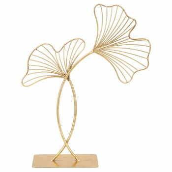 Decorațiune Mauro Ferretti Leaf Glam, înălțime 44 cm, auriu la pret 186 lei