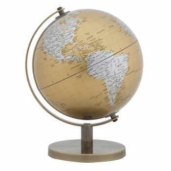 Decorațiune pentru masă Mauro Ferretti Globe, înălțime28cm, auriu-argintiu la pret 197 lei