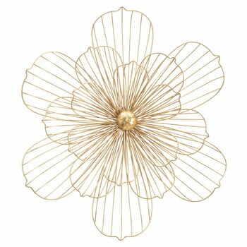 Decorațiune pentru perete Mauro Ferretti Flower Stick, 60x54cm, auriu la pret 423 lei