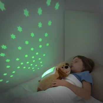 Jucărie de pluș cu proiector LED InnovaGoods Dog la pret 109 lei
