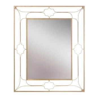 Oglindă de perete Mauro Ferretti Balcony, 80x100cm, auriu la pret 787 lei
