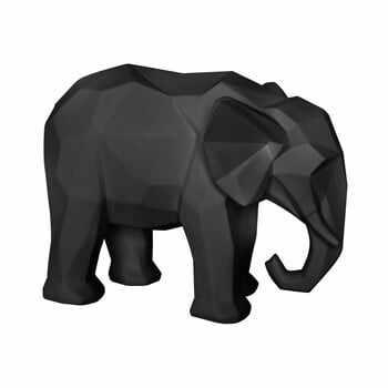 Statuetă PT LIVING Origami Elephant, negru mat la pret 251 lei