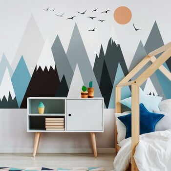 Autocolant Ambiance Giant Kid Sticker Scandinavian Mountains Parka