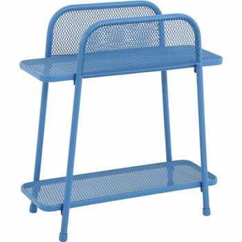 Masă auxiliară metalică pentru balcon ADDU MWH, înălțime 70 cm, albastru la pret 179 lei
