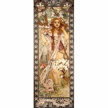 Reproducere tablou Alfons Mucha - Maud Adams as Joan of Arc, 30 x 80 cm la pret 171 lei