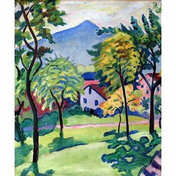 Reproducere tablou August Macke - Tegernsee Landscape, 50 x 60 cm la pret 157 lei