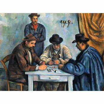 Reproducere tablou Paul Cézanne - The Card Players, 80 x 60 cm la pret 222 lei