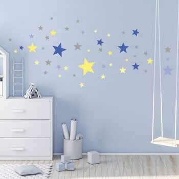 Set 50 autocolante Ambiance Stars Blue and Yellow la pret 70 lei