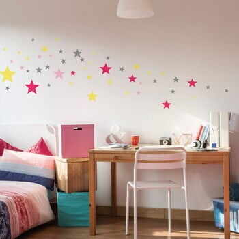 Set 50 autocolante Ambiance Stars Pink and Yellow la pret 70 lei