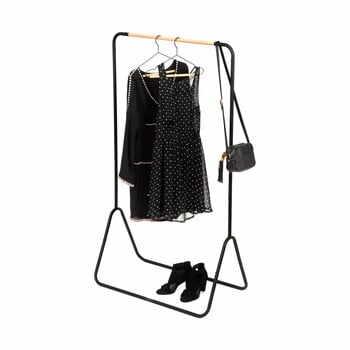 Suport pentru haine Compactor Elias Clother Hanger, înălțime 145 cm, negru la pret 188 lei
