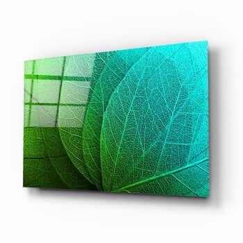 Tablou din sticlă Insigne Green Leaf la pret 156 lei