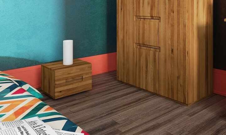 Noptiera din lemn masiv de stejar Vento A natural, l40xA35xH30 cm la pret 881 lei