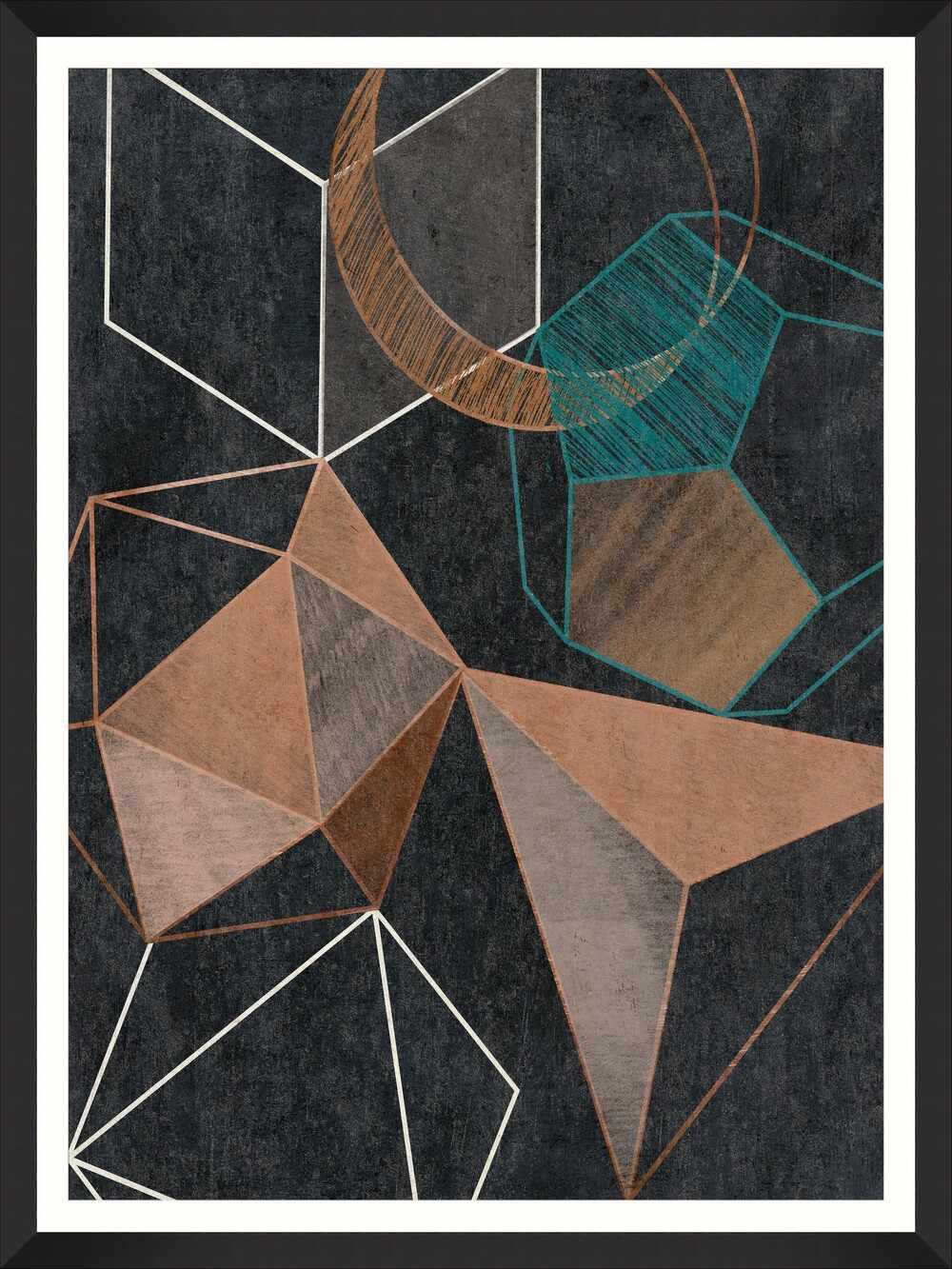 Tablou Framed Art Copper Geometry II la pret 386 lei