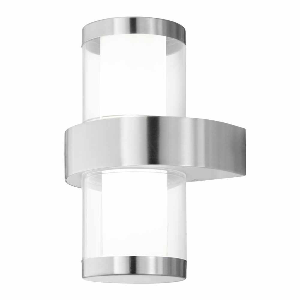 Aplica de exterior cu LED Eglo Beverly 1 2x3.7W 20x27cm inox la pret 350.54 lei