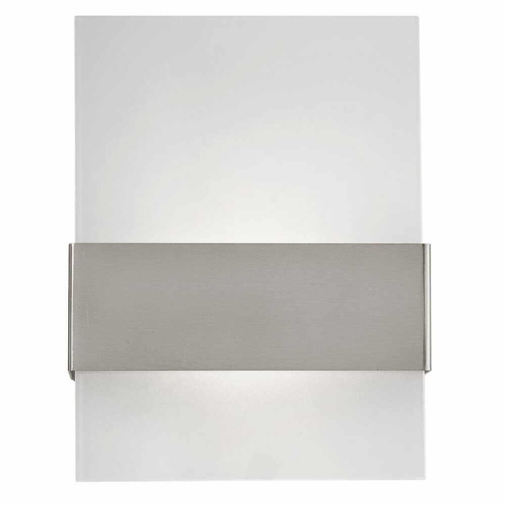 Aplica de exterior cu LED Eglo Modern Nadela 2x2.5W 21.5x29x9cm inox-sticla satinata la pret 250.53 lei