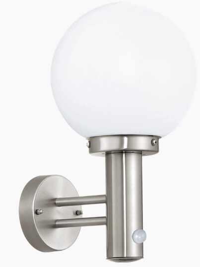 Aplica de perete Eglo Modern Nisia 1x 60W Sensor Inox Alb Opal la pret 220.53 lei