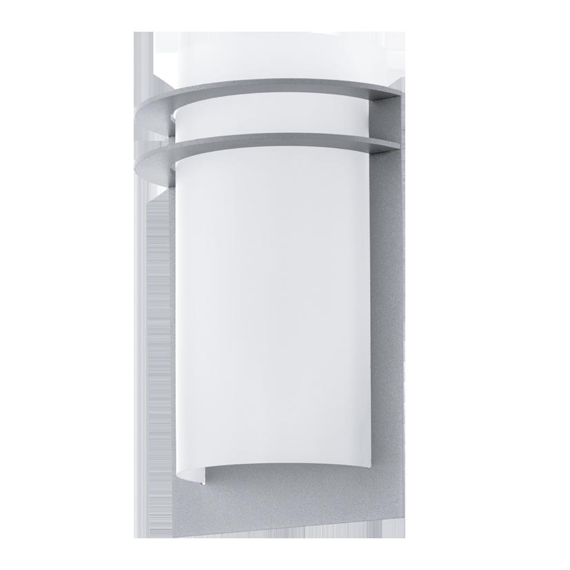 Aplica de exterior Eglo Malgera 2x2.5W LED argintiu-alb la pret 167.28 lei