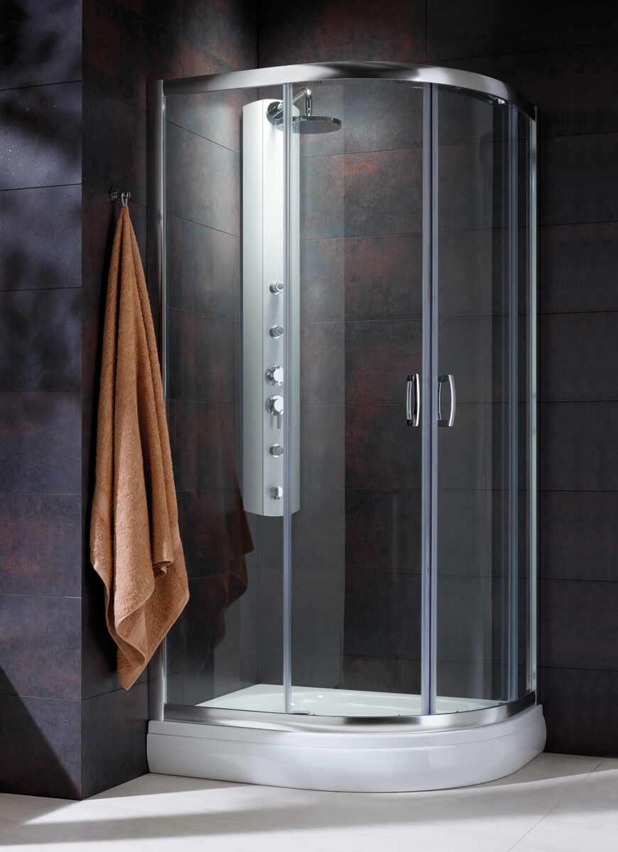 Cabina de dus semirotunda Radaway Premium Plus E 1900 120x90 cm sticla transparenta la pret 2272.76 lei