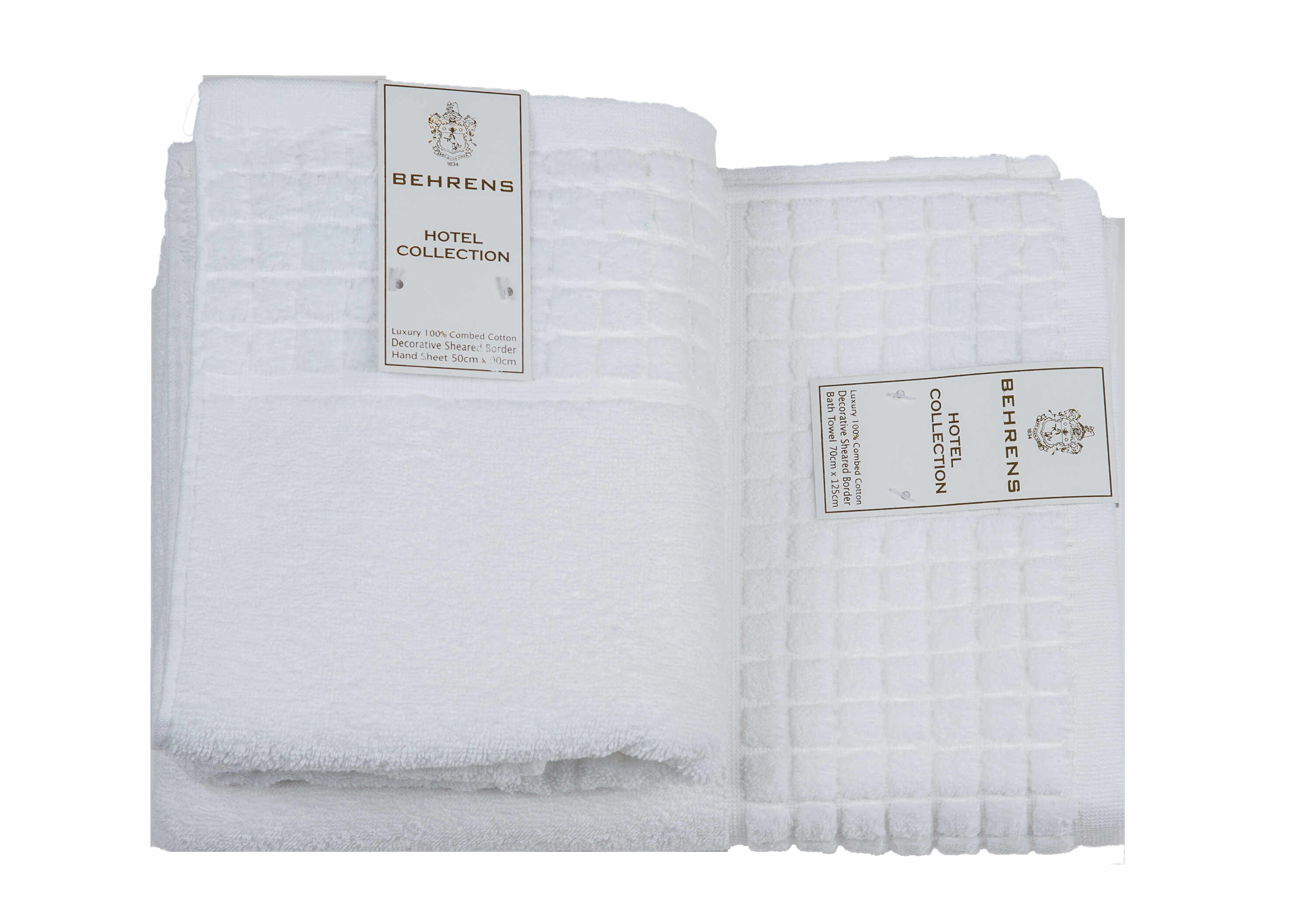 Prosop de baie Behrens Hotel Collection 70x130 cm 550gsm White