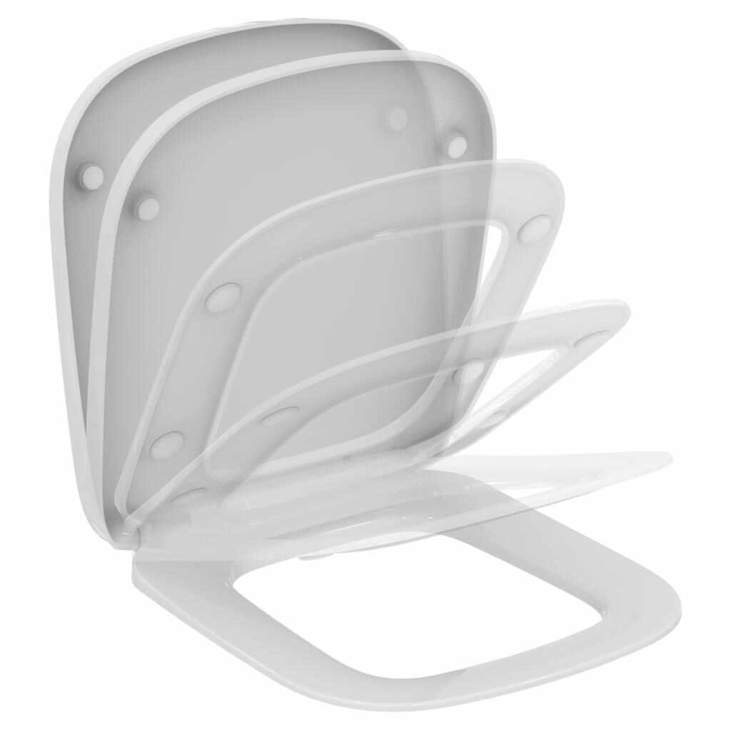 Capac WC Ideal Standard Esedra compact cu inchidere lenta la pret 294.83 lei