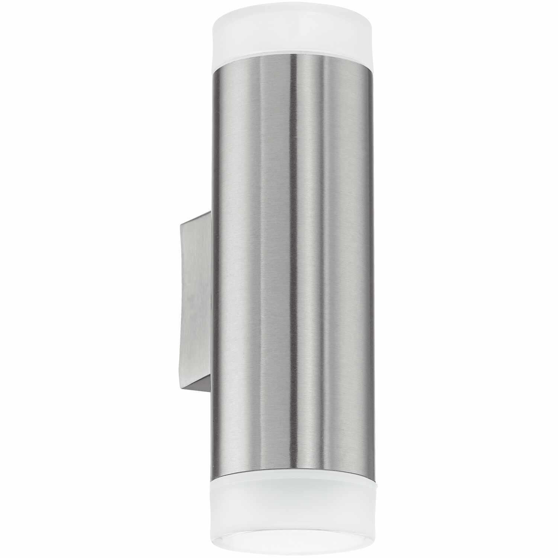 Aplica de exterior Eglo Modern Riga LED 2x3W 6.5x20.5x9.5cm inox-plastic la pret 171.43 lei