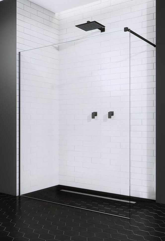 Cabina de dus tip Walk-in Radaway Modo II Black 90cm