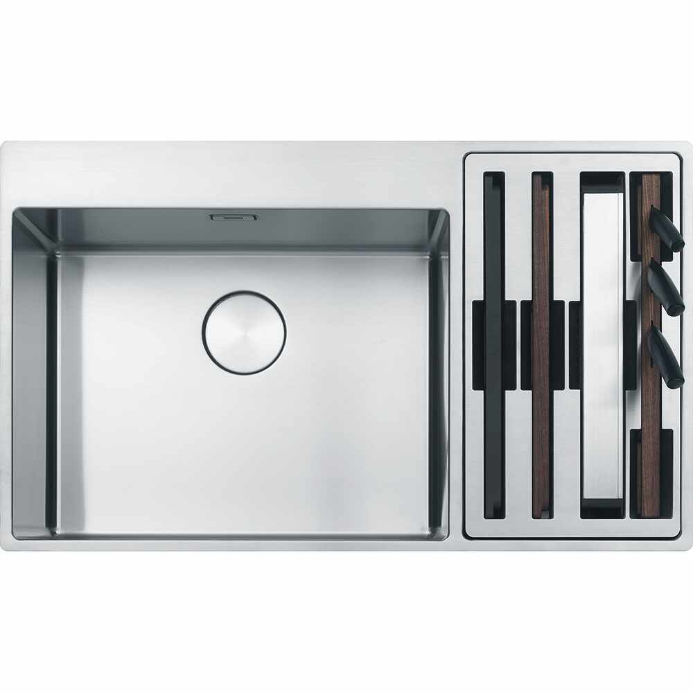 Chiuveta Franke Box Center BWX 220-54-27 dreapta 860x510mm inox satinat la pret 5474.69 lei