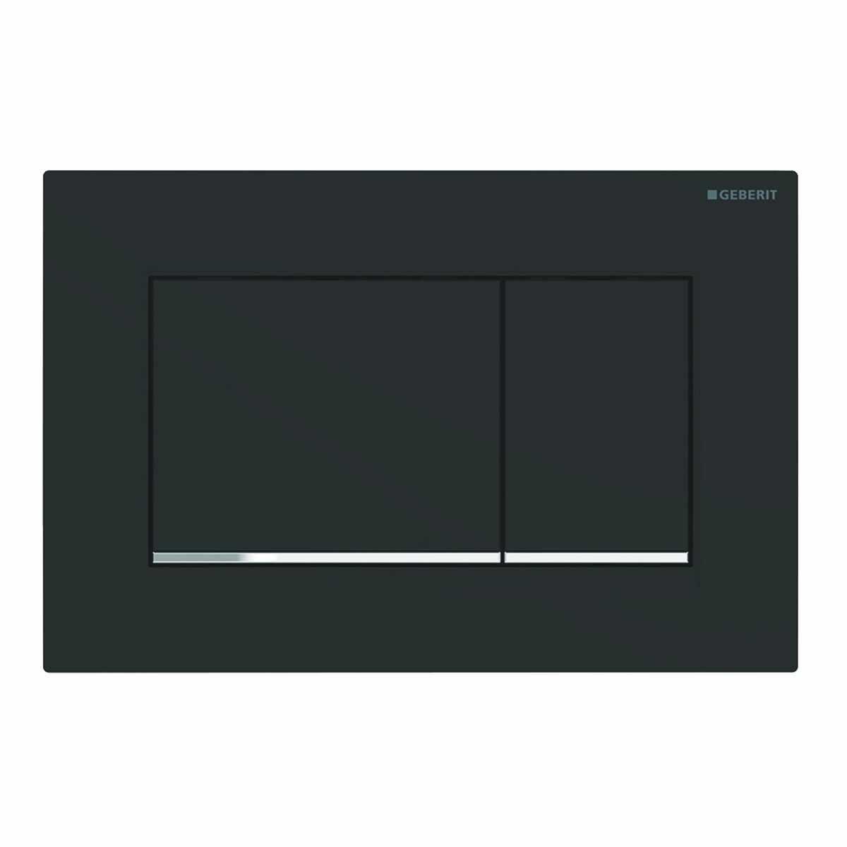 Clapeta actionare Geberit Sigma30 New negru mat lacuit /crom lucios strat Easy-to-Clean la pret 534.6 lei