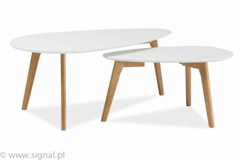 Mese rustice lemn rotund Milan L2, albe la pret 700 lei