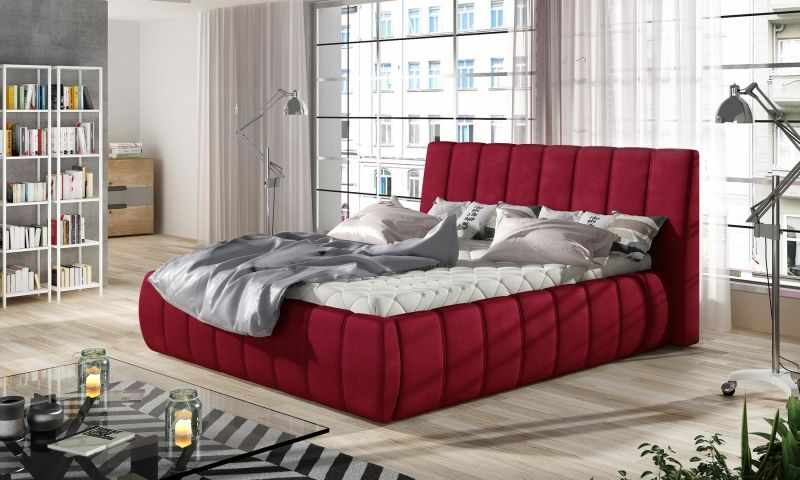 Pat dormitor rosu VENETO 140 la pret 3395 lei