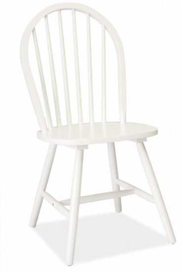Scaun din lemn masiv alb Fiero  la pret 254 lei