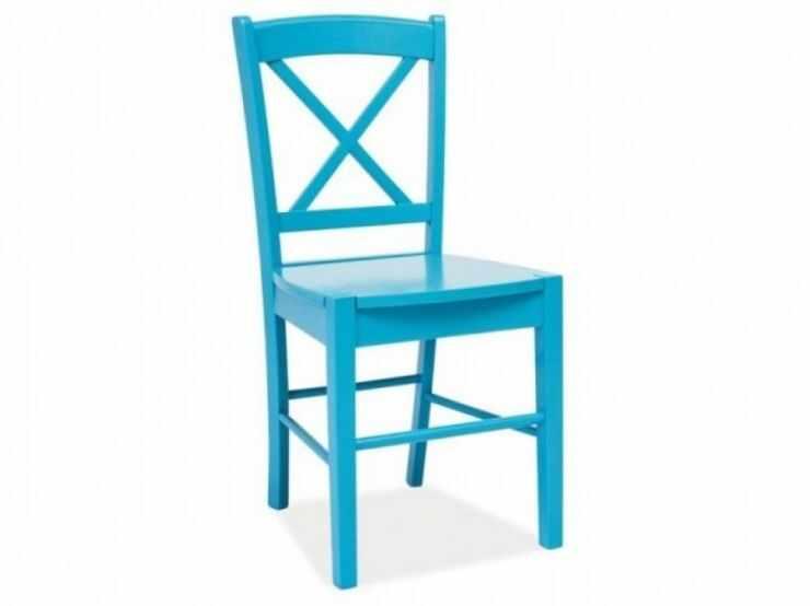 Scaun din lemn masiv albastru CD-56  la pret 284 lei